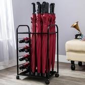 酒店大堂雨傘架 歐式家用雨傘架 鐵藝創意雨傘架雨傘桶收納桶wl4553【黑色妹妹】