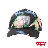 Levis 男女同款 可調式環釦棒球帽 / 扶桑花紋 / 半透明雙馬標