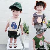 兒童背心新款t恤男童無袖薄款小背心韓版寶寶純棉上衣潮艾美時尚衣櫥