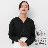 ❖ Hot item ❖ 襯衫領口袋鈕釦上衣 - E hyphen world gallery