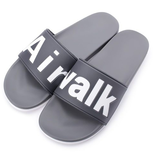 AIR WALK 男鞋 拖鞋 休閒 柔軟 灰 【運動世界】 A825220310