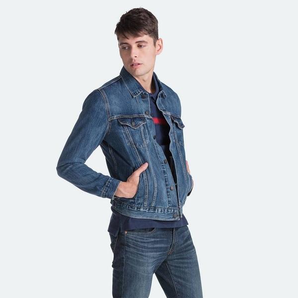 Levis 男款 牛仔外套 / Type 3經典版型 / Lyocell天然環保纖維 / 深藍水洗
