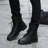 夏季新款馬丁靴軍靴潮流韓版皮靴高筒男士雪地靴棉鞋短靴男靴 【korea時尚記】