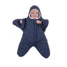 BabyBites 西班牙鯊魚咬一口 嬰兒包巾睡袋(標準版)小海星-午夜藍[衛立兒生活館]
