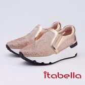 kadia.優雅天鵝湖水鑽休閒鞋(9680-65玫瑰金)