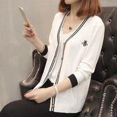 春秋季新款韓版寬鬆長袖冰絲針織衫女開衫外套 LQ5358『科炫3C』