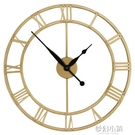 北歐掛鐘客廳輕奢大氣創意個性時鐘表掛牆壁免打孔超靜音家用鐘飾 夢幻小鎮