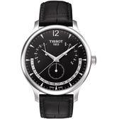 TISSOT天梭Tradition系列永恆日期腕錶  T0636371605700