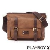 PLAYBOY- Florence Rabbit 佛羅倫斯系列 袋式斜背包-古典棕