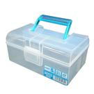 619提把雙層收納盒 工具箱 手提箱 收納盒 保健藥箱 文具 雜物 收納箱【SV8441】BO雜貨