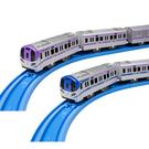 日本PLARAIL 場捷運列車雙入組_TP86115  鐵道王國TAKARA TOMY