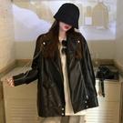 黑色皮衣外套女裝2020秋冬新款韓版時尚洋氣質寬鬆長袖機車夾克衫YQ398