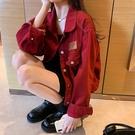 夾克 外套女春秋季2020新款韓版寬松bf風百搭休閑夾克復古港味上衣【新品上架】