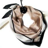 中小方巾絲巾女冬季新款絲綢百搭職業白領巾春秋保暖寶寶圍巾韓國