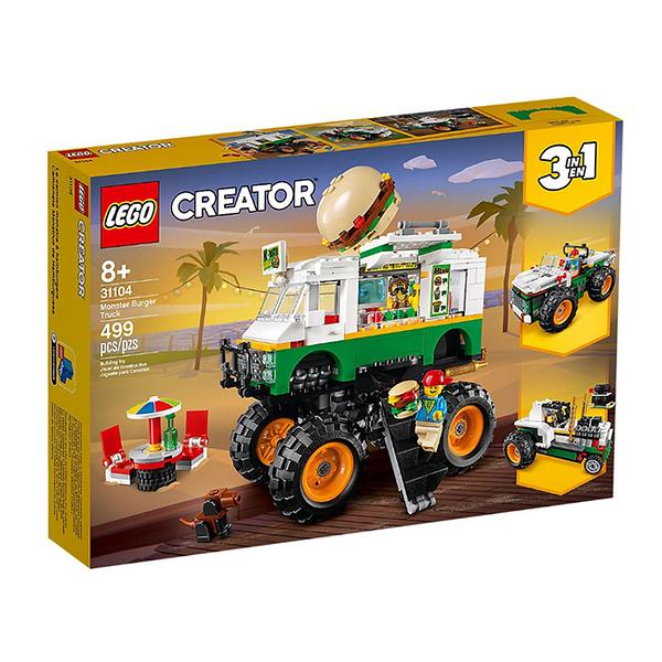 31104【LEGO 樂高積木】創意大師 Creator 怪獸漢堡卡車 Monster Burger Truck 31104 (499pcs)