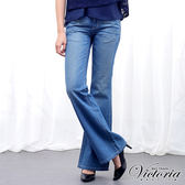 Victoria B.F 寬靴型褲-女-中藍