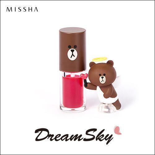 韓國 MISSHA X LINE 聯名款 熊大 水感 唇液 顯色 唇蜜 口紅 唇彩 (4.5g/罐) DreamSky