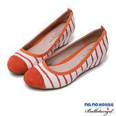 厚底鞋 夏日氣息條紋內增高包鞋(橘)*BalletAngel【18-8587or】【現+預】