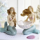 魚缸擺設創意電視柜酒柜裝飾美人魚家居客廳擺件結婚禮物【步行者戶外生活館】