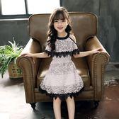 女童連身裙夏裝女孩洋氣潮衣中大童正韓童裝兒童公主裙子洋裝-BB奇趣屋