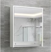 浴室櫃 北歐實木現代簡約衛生間鏡箱帶燈廁所掛墻式鏡子帶置物架 - 古梵希