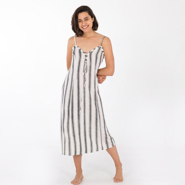 HURLEY|女 HRLY LACE UP MIDI DRESS 洋裝