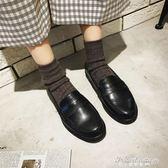 復古單鞋女一腳蹬豆豆鞋簡約款森系女皮鞋韓版低跟皮鞋·蒂小屋