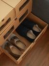 鞋盒 鞋架 透明鞋盒鞋子收納盒紙盒紙質抽屜式高跟鞋靴子收納神器防塵折疊免運快出