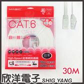 Magic 鴻象 Cat6 High-Speed 超薄網路線30米/30M (CAT6F-30)/台灣製造