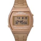 CASIO手錶 流線型玫金電子鋼錶NECA10