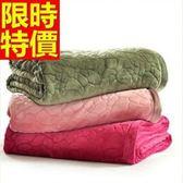 毛毯子法蘭絨風靡-冬款格紋簡約加厚小毯被8色64d15[時尚巴黎]