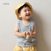 papa爬爬夏季薄款男女寶寶背心 嬰兒背心兒童衣服0-5歲