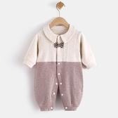 嬰兒連身衣春秋冬薄款寶寶新生長袖哈衣服潮秋裝【奇趣小屋】