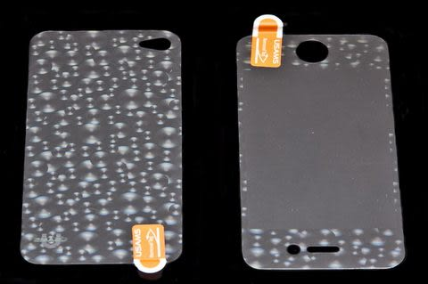 USAMS 3D 雷射Laser 高耐磨 手機螢幕保護貼 Apple iPhone 4S 圓球 (二片裝)