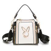 PLAYBOY-  斜背包附手提帶 樂遊時尚系列 -米白色