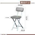 兄弟牌丹寧PU厚墊有背折疊椅( 灰色)~PU加厚座墊設計,促銷價449元1 張/箱