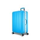 Arowana 晶燦光影25吋鑽石紋耐刮鋁框旅行箱(土耳其藍)