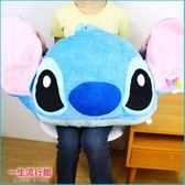 (超大) 迪士尼 史迪奇 正版 絨毛大頭午睡枕頭 抱枕 娃娃 靠枕 生日禮物 B16307