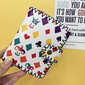 春季上新 韓國原宿卡通涂鴉印花手工錢包軟妹可愛短款錢夾女復古個性小卡包