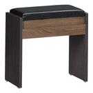 【森可家居】克德爾鏡台椅(可置物) 10JX320-6 化妝椅 工業風 MIT