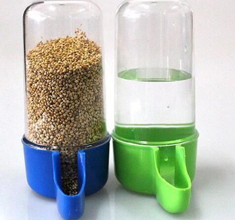 餵食器 鳥用自動飲水器鸚鵡八哥小鳥喂食器鳥食盒食杯防撒防濺下料器用具 韓菲兒