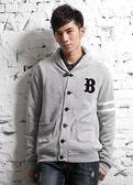 【BTIS】針織男外套  淺麻灰色