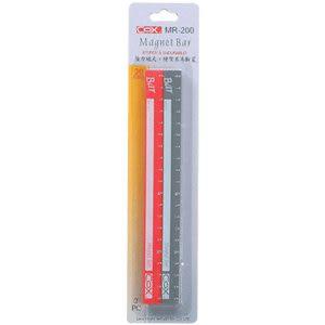[奇奇文具]【COX 三燕 磁條】MR-200C 彩色磁尺/磁條/磁鐵 20cmx2支
