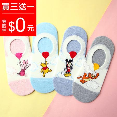 韓國 迪士尼氣球造型矽膠止滑隱形襪 米奇 維尼 小豬 跳跳虎 船型襪 淺口船襪 短襪 襪子