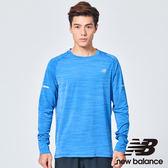 New Balance Seasonless輕量慢跑長袖上衣 男裝 藍 AMT73236PFH