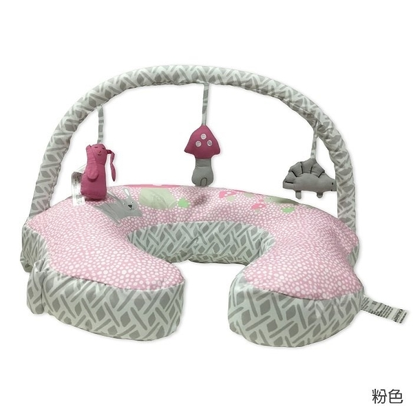 Comfort & Harmony 哺乳枕/定型枕+玩偶架(粉底兔子款)