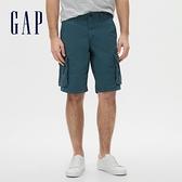 Gap男裝 工裝風格舒適休閒短褲 554895-灰藍色