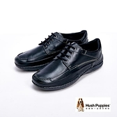 【南紡購物中心】Hush Puppies Bounce彈力雙鞋墊綁帶式 男鞋-黑(另有咖)
