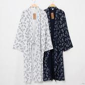 雙十二狂歡 日式和風睡袍男士睡衣春秋浴袍純棉和服寬鬆系帶長款薄款夏季浴衣 艾尚旗艦店