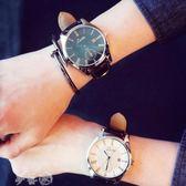 手錶 大錶盤韓版時尚簡約女錶潮皮帶男錶學生休閒情侶超薄防水石英手錶 夢藝家